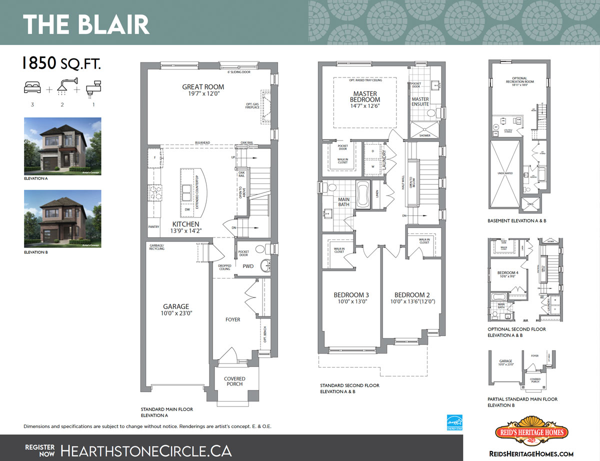 Hearthstone Circle The Blair Floor Plan