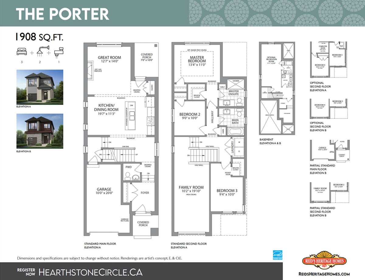 Hearthstone Cirlce The Porter Floor Plan