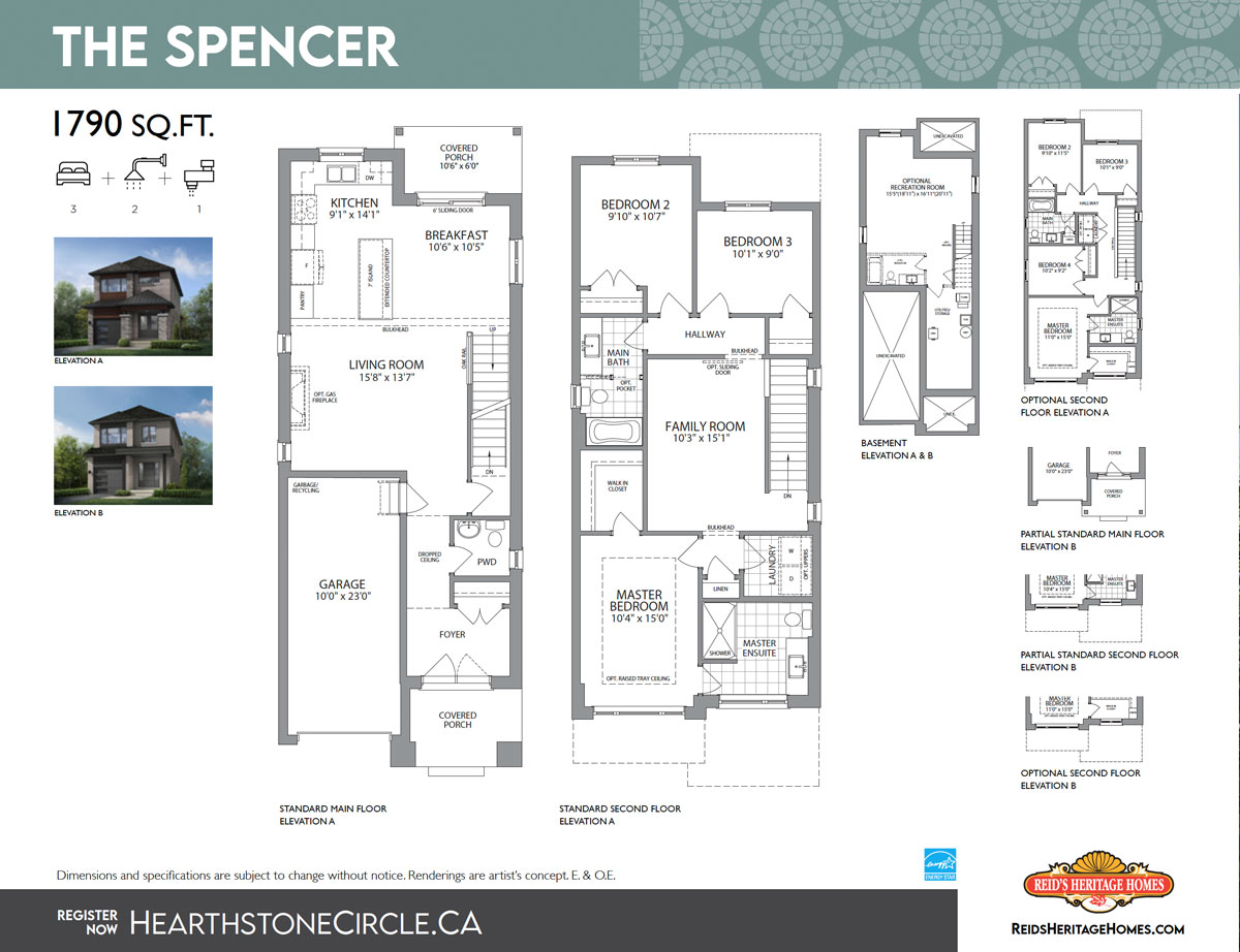 Hearthstone Circle The Spencer Floor Plan