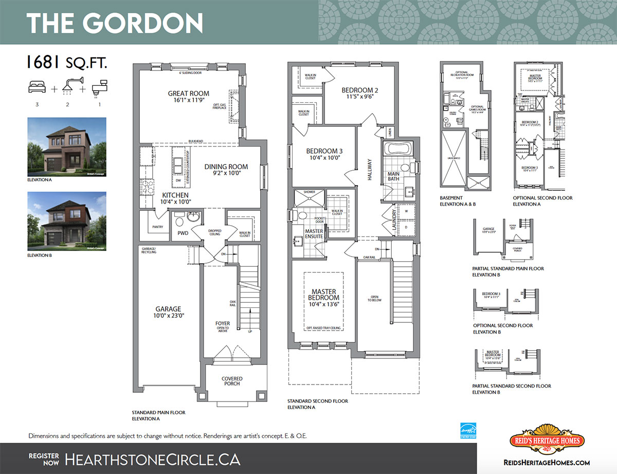Hearthstone Circle The Gordon Floor Plan